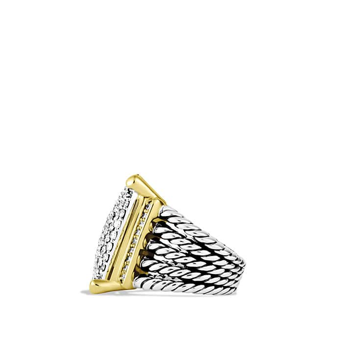 Wheaton Ring with Diamonds and Gold