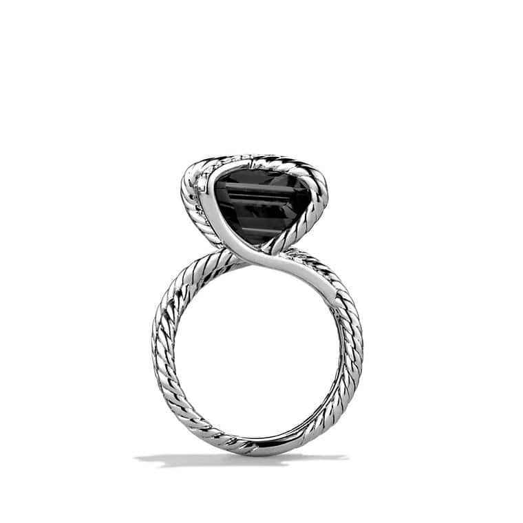 Cable Wrap Ring with Black Onyx and Diamonds