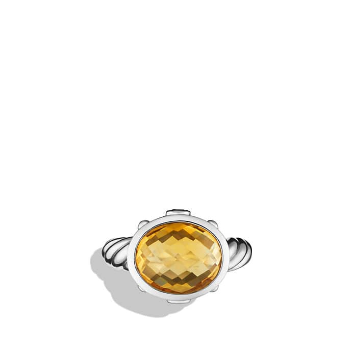 Renaissance Ring with Citrine and Carnelian