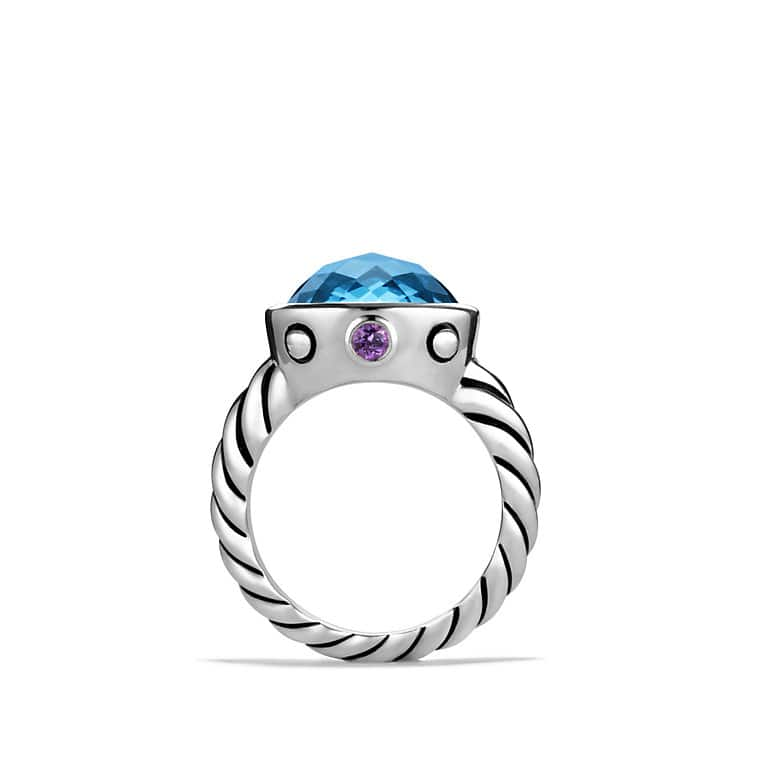Renaissance Ring with Hampton Blue Topaz and Amethyst