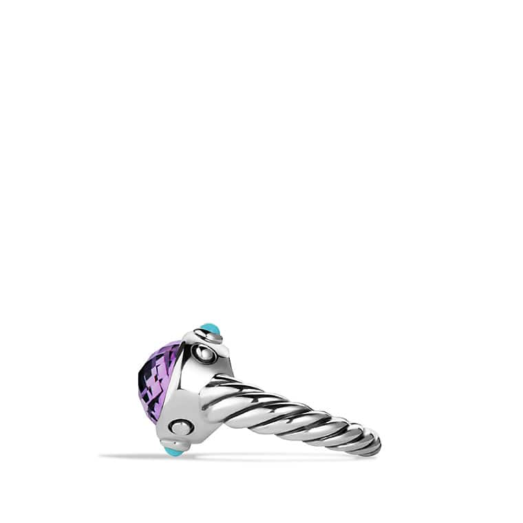 Renaissance Ring with Amethyst and Turquoise
