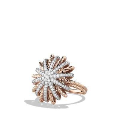 Starburst Ring with Diamonds in 18K Rose Gold