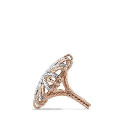 Starburst Ring with Diamonds in Rose Gold