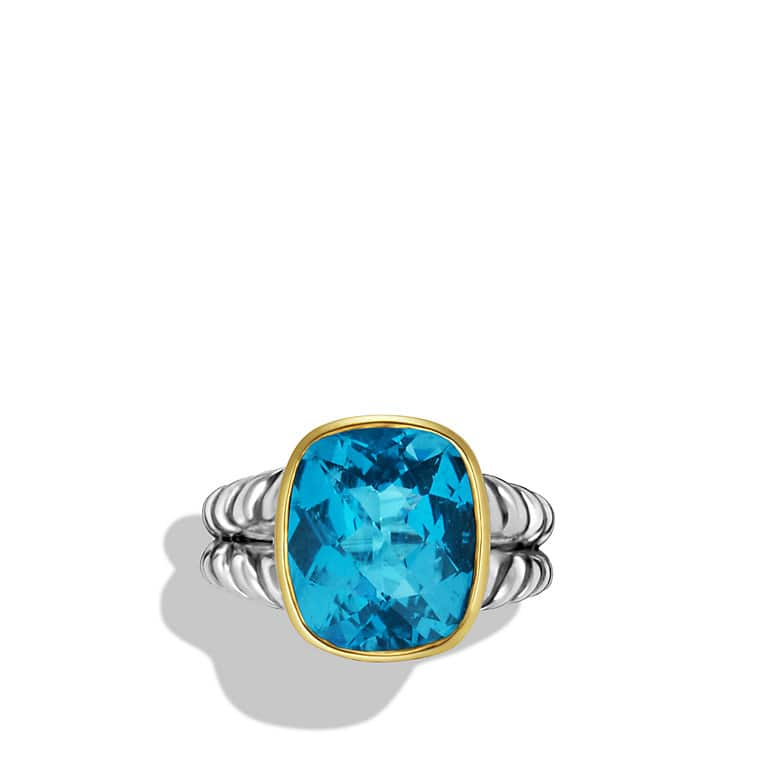 Noblesse Ring with Hampton Blue and Gold