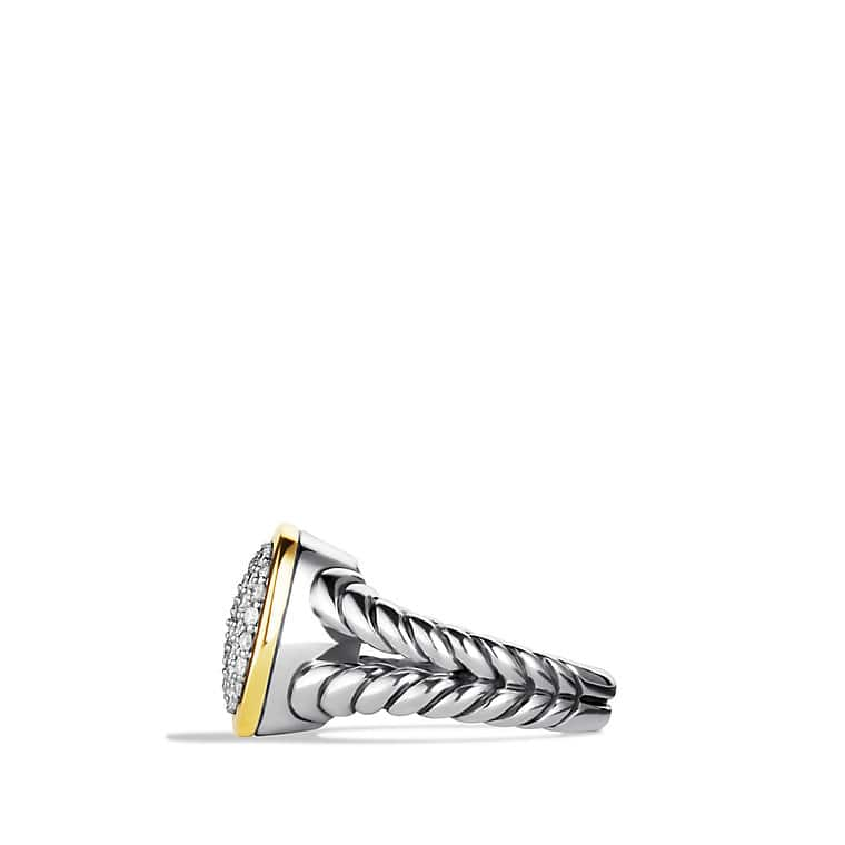 Noblesse Ring with Diamonds and Gold