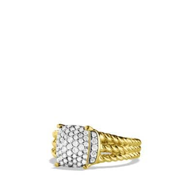 Petite Wheaton Ring with Diamonds in 18K Gold