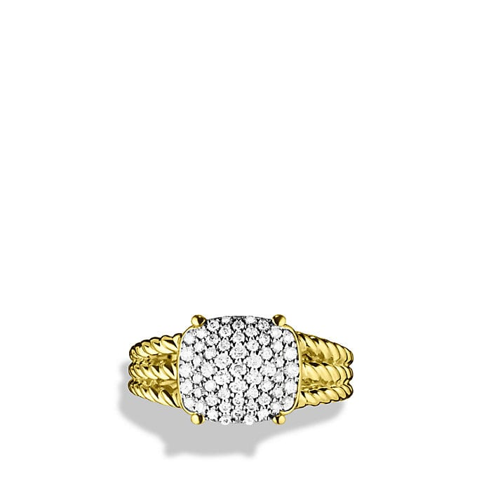 Petite Wheaton Ring with Diamonds in Gold