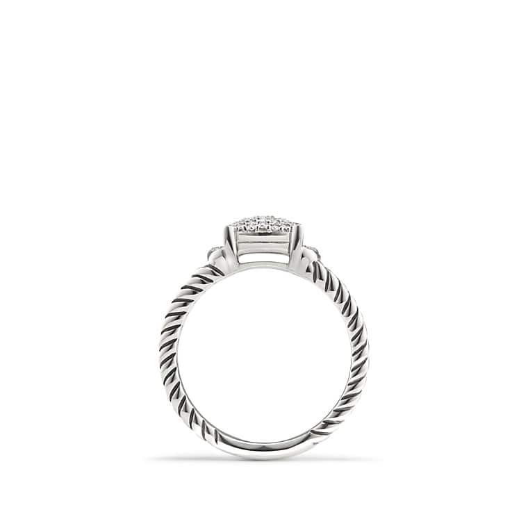 Petite Wheaton® Ring with Diamonds