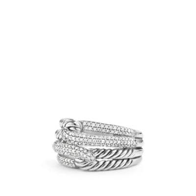 Labyrinth® Double-Loop Ring with Diamonds
