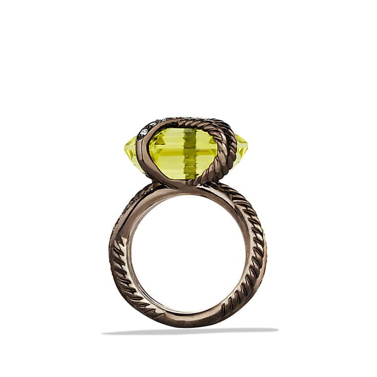 Cable Wrap Ring with Lemon Citrine and Diamonds