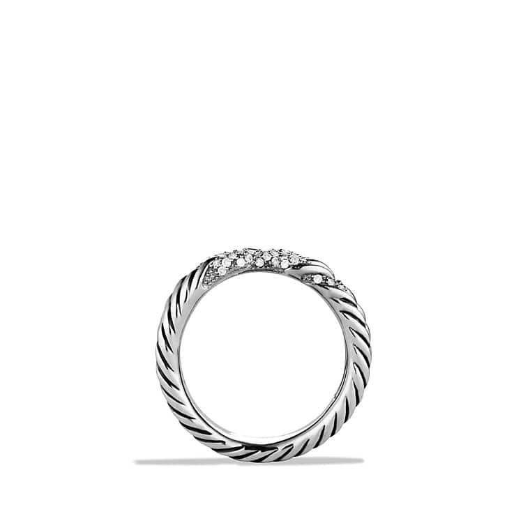 Willow Three-Row Ring with Diamonds