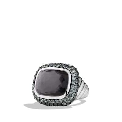 Waverly Limited-Edition Ring with Black Orchid and Gray Sapphires