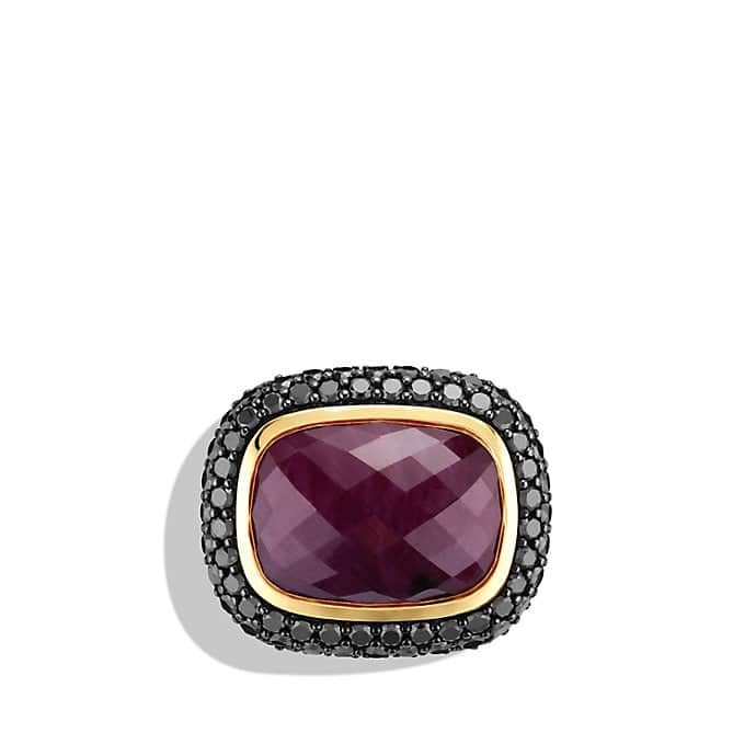 Limited Edition Ruby Moonlight Ring with Ruby, Black Diamonds, and Gold