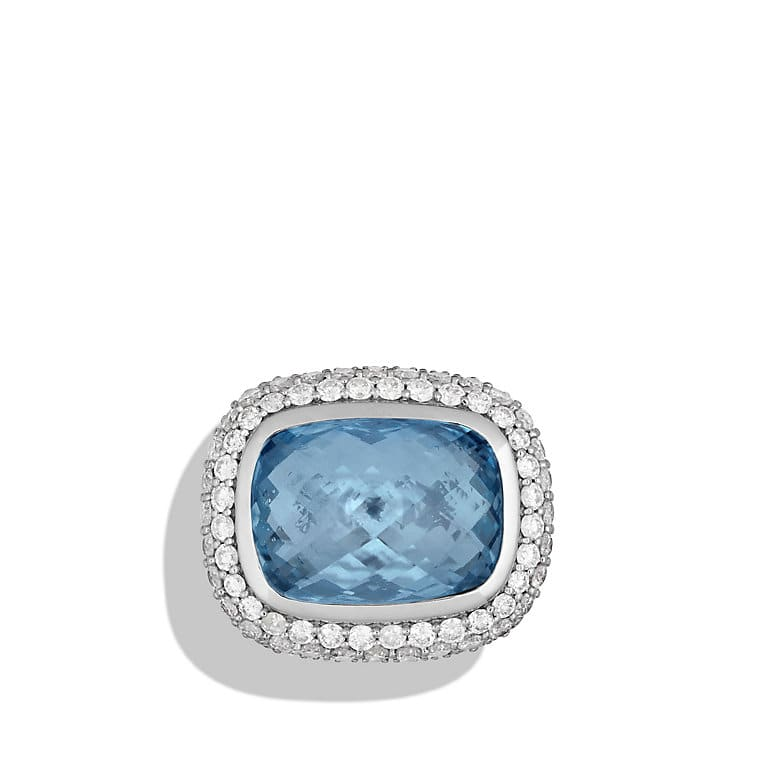 Waverly Limited-Edition Ring with Blue Topaz and Diamonds