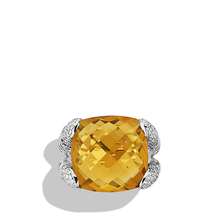 Color Cocktail Ring with Citrine and Diamonds