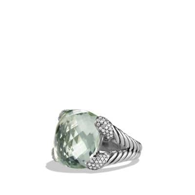 Color Cocktail Ring with Prasiolite and Diamonds