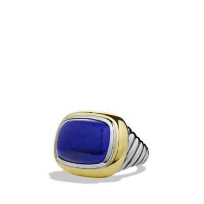 Waverly Ring with Lapis Lazuli and Gold