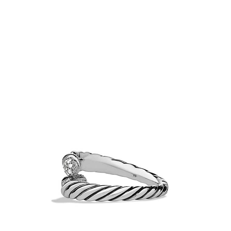 Willow Open Single-Row Ring with Diamonds