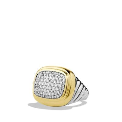 Waverly Ring with Diamonds and Gold