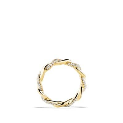 Wisteria Twist Ring with Diamonds in Gold