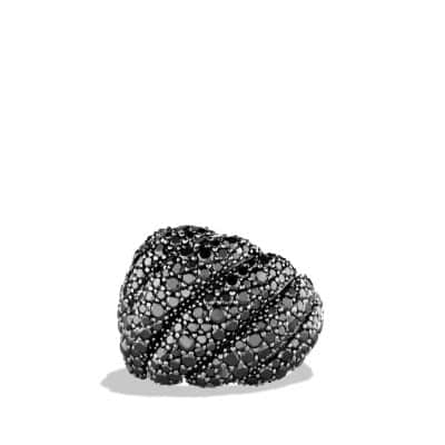 Hampton Cable Ring with Black Diamonds