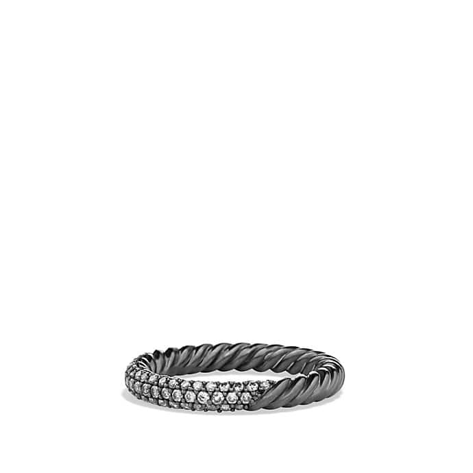 Petite Pavé Ring with Gray Diamonds