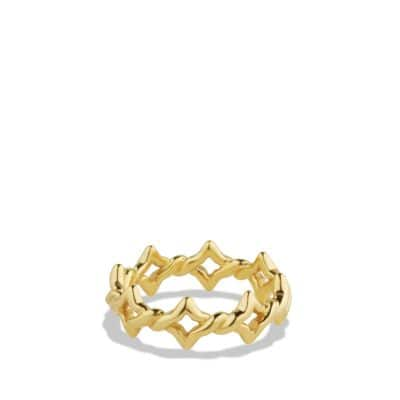Venetian Quatrefoil® Stacking Ring in 18K Gold