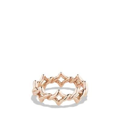 Venetian Quatrefoil Stacking Ring in Rose Gold