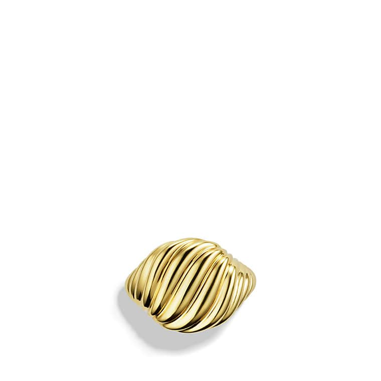 Sculpted Cable Pinky Ring in Gold