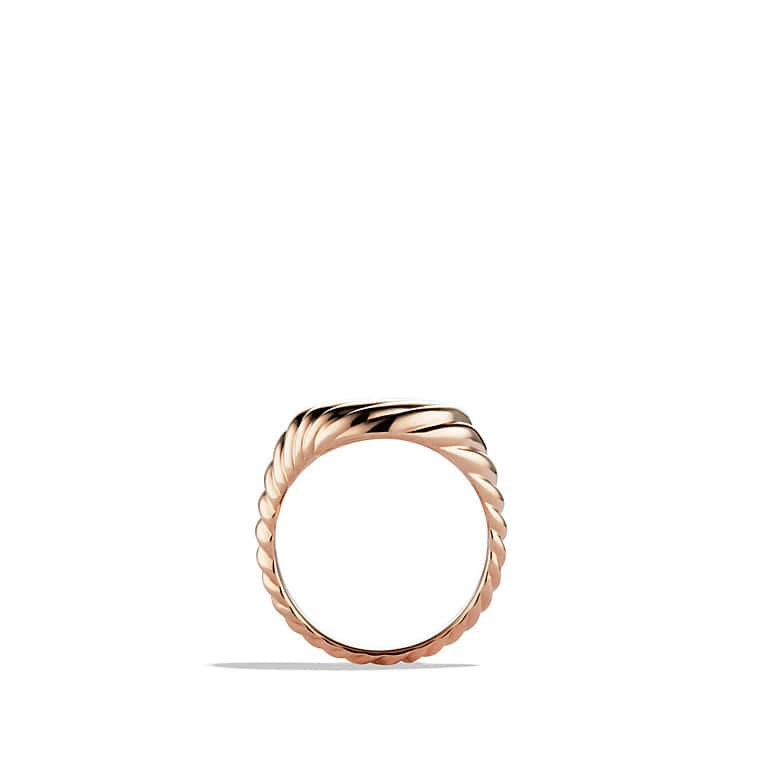 Cable Pinky Ring in Rose Gold