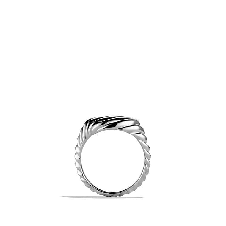 Cable Pinky Ring with White Gold
