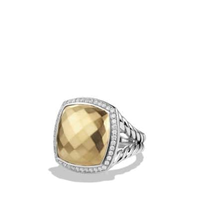 Albion Ring with Diamonds and 18K Gold, 17mm