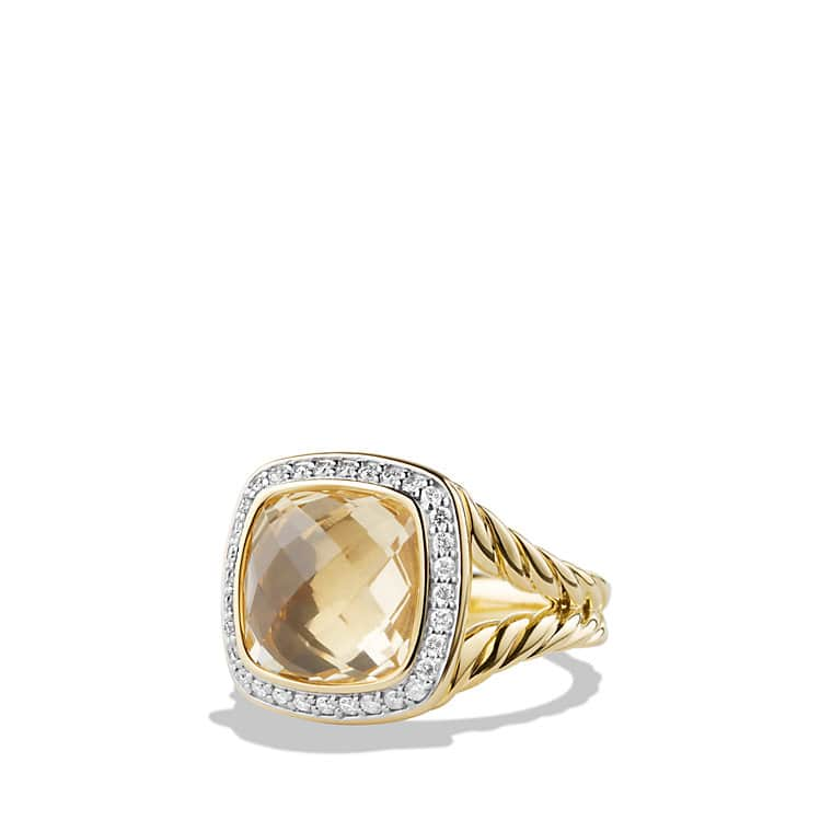 albion ring with diamonds in 18k gold