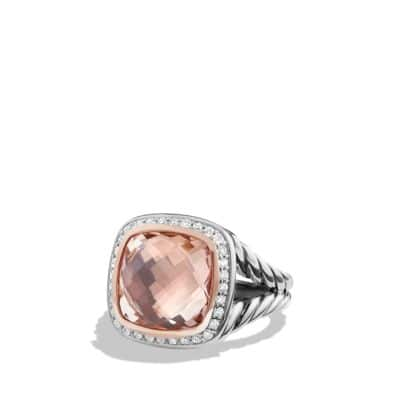 Albion Ring with Morganite, Diamonds and 18K Rose Gold