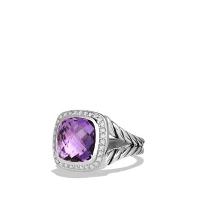Albion Ring with Amethyst and Diamonds, 11mm