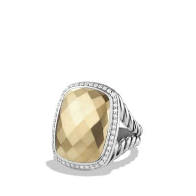 Albion® Ring with Diamonds and 18K Gold