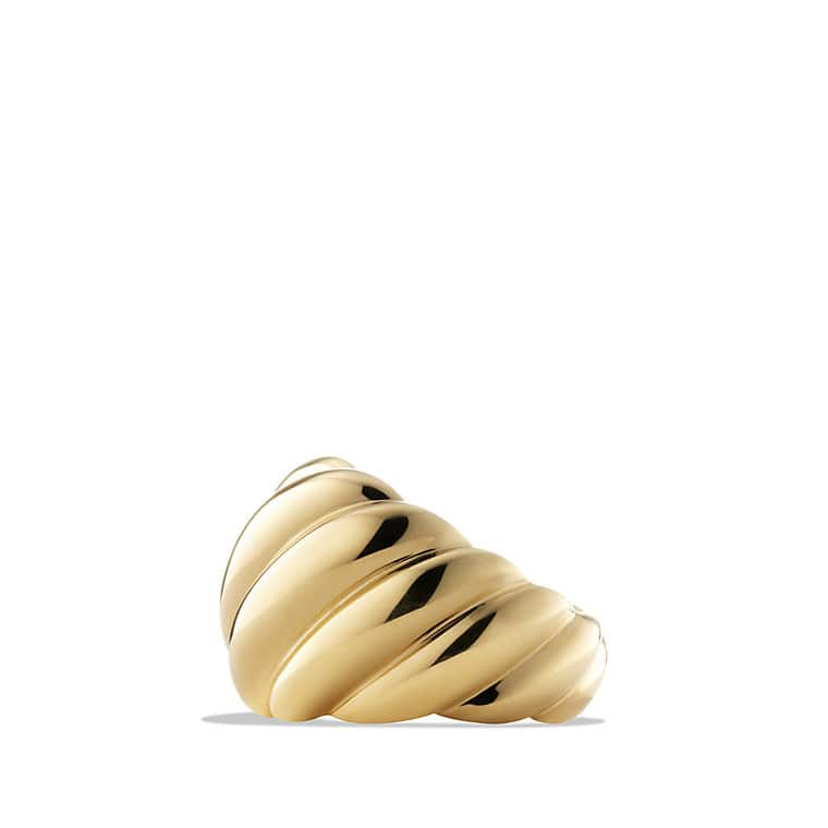 Hampton Cable Collection Ring in 18K Gold