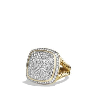 Albion® Ring with Diamonds in 18K Gold