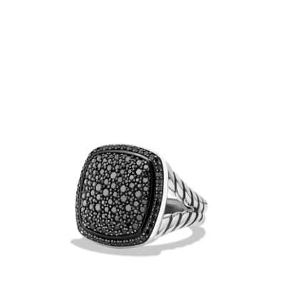 Albion® Ring with Black Diamonds, 17mm