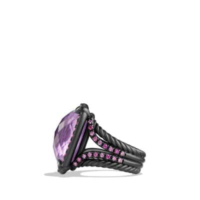 Ring with Amethyst and Pink Sapphires