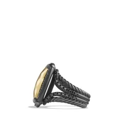 Châtelaine® Ring with Black Diamonds and 18K Gold