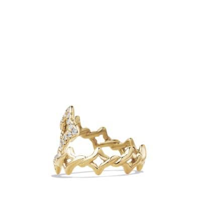 Venetian Ring with Diamonds in 18k Gold