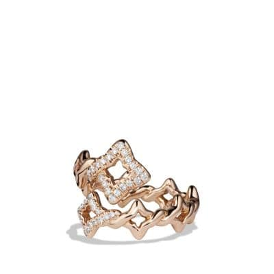 Venetian Ring with Diamonds in 18K Rose Gold