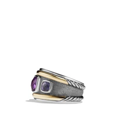 Ring with Amethyst, Iolite and 14K Gold