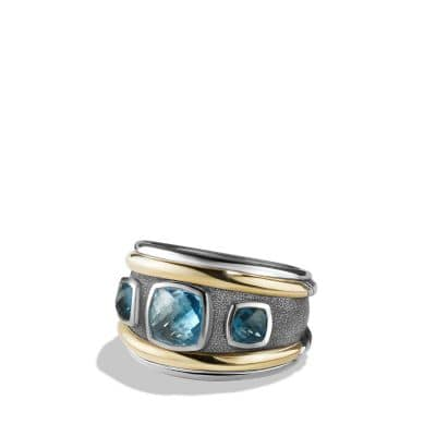 Ring with Blue Topaz, Hampton Blue Topaz and 14K Gold