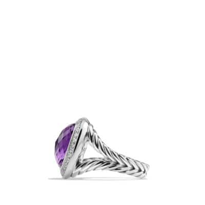 Albion® Ring with Amethyst and Diamonds, 14mm