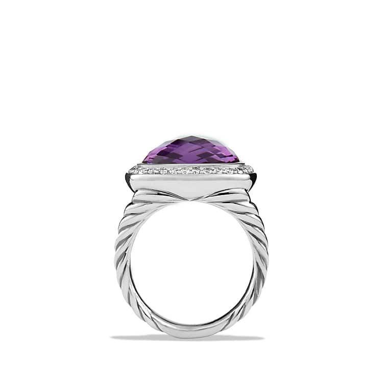 albion ring with amethyst and diamonds 14mm