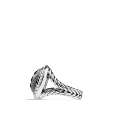 Ring with Hematine and Diamonds