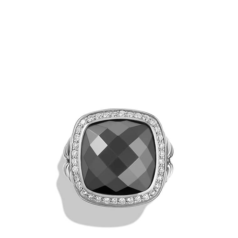 albion ring with hematine and diamonds 14mm