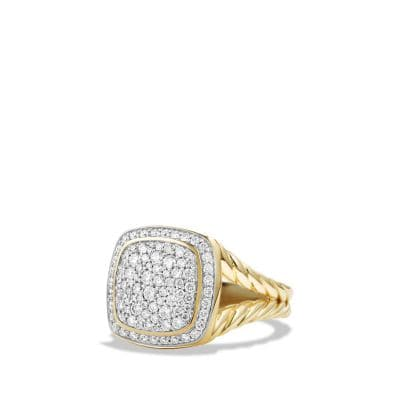 Albion Ring with Diamonds in 18K Gold, 11mm